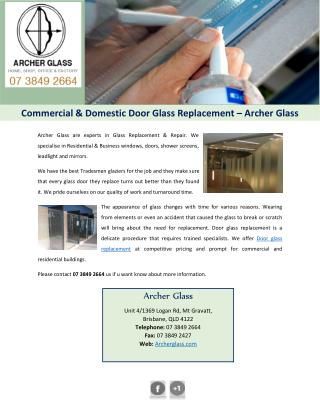 Commercial & Domestic Door Glass Replacement – Archer Glass