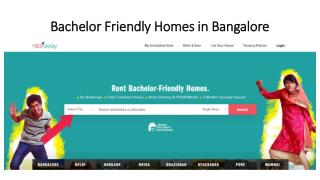 Bachelor friendly homes in Bangalore