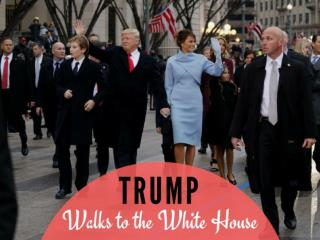 Trump walks to the White House