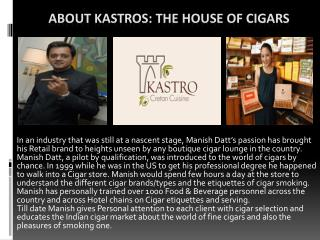 Trusted Online Cigar India Store - Kastros.com