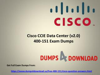 Get Verified Cisco 400-151 Exam Questions - PPT Slide