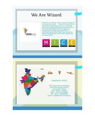 Top Rated MICE Companies in Delhi - Wizard-Events.in