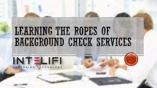 Learning the Ropes of Background Check Services
