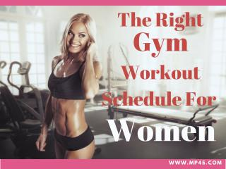The Right Gym Workout Schedules For Women