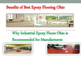 Benefits of Best Epoxy Flooring Ohio