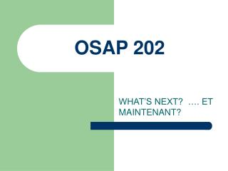 OSAP 202