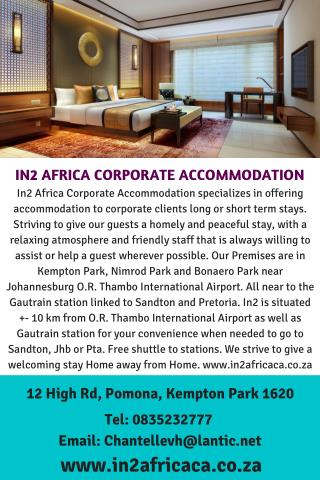 DAY TOURS IN GAUTENG - IN2 AFRICA CORPORATE ACCOMMODATION