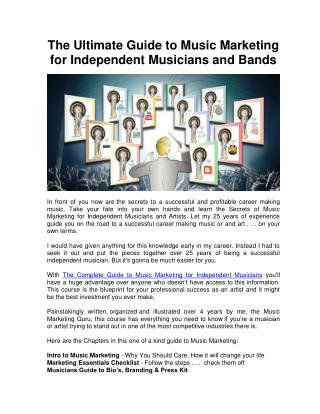 The Ultimate Guide to Music Marketing for Independent Musicians and Bands