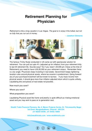 Retirement Planning for Physician