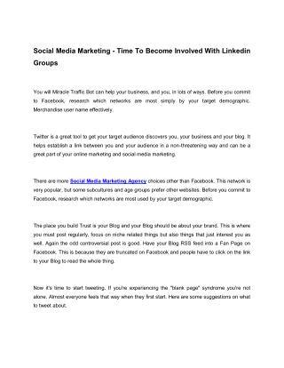 Social Media Marketing - Top Three Assets