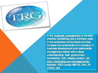 Managing Distribution Networks in York - Tacticalrg