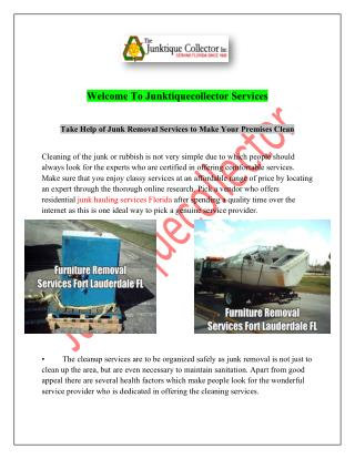 Commercial junk hauling services Florida