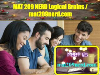 MAT 209 NERD Logical Brains / mat209nerd.com