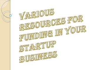 Resources for Your Startup Business Funding