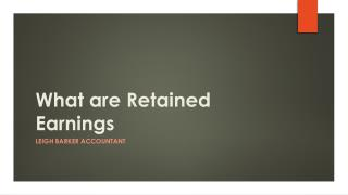 What are Retained Earnings - Leigh Barker Accountant