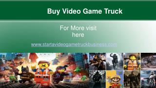mobile video game truck business