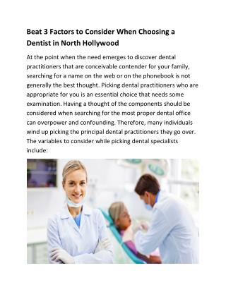 Dentist in North Hollywood,North Hollywood Dentist,Dental Office in North Hollywood,Dentist 91601