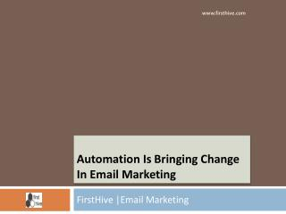 Automation Is Bringing Change In Email Marketing