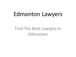 Edmonton Lawyers