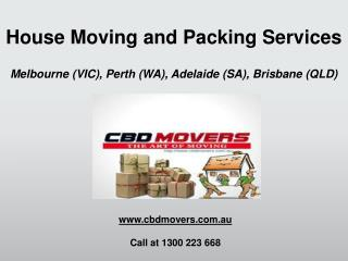 Movers and Packers Brisbane - CBD Movers