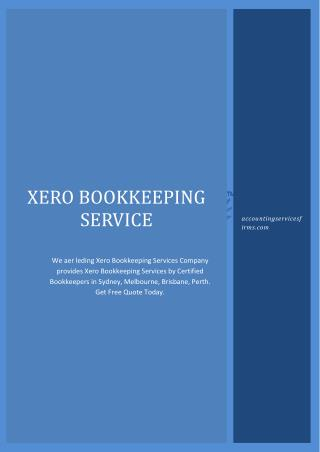 Xero Bookkeping Services