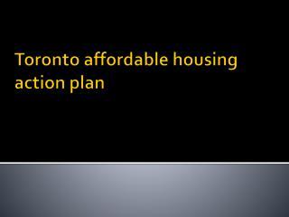 Toronto affordable housing action plan