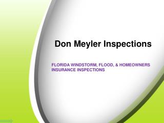 Commercial Insurance Inspections