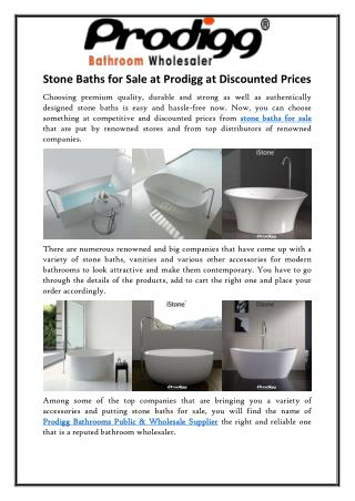 Stone Baths for Sale at Prodigg at Discounted Prices