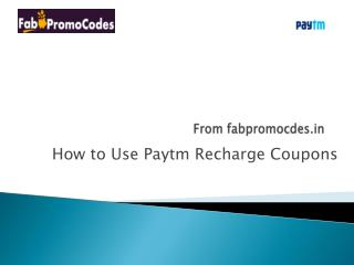 How to use Paytm Recharge Coupons