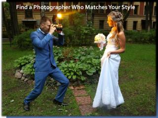 Find a Photographer Who Matches Your Style