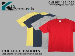Get the best manufacture of college and corporate t-shirts in Noida.