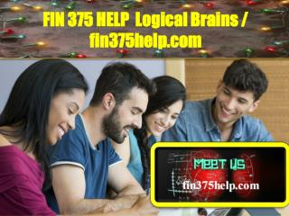 FIN 375 HELP  Logical Brains /  fin375help.com