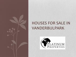 Houses For Sale In Vanderbijlpark