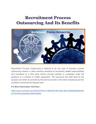Recruitment Process Outsourcing And Its Benefits