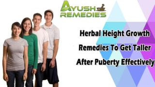Herbal Height Growth Remedies To Get Taller After Puberty Effectively