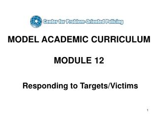 MODEL ACADEMIC CURRICULUM  MODULE 12