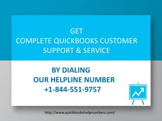 QuickBooks @Error Support Number   1- 844-551-9757