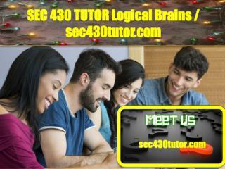 SEC 430 TUTOR Logical Brains/sec430tutor.com