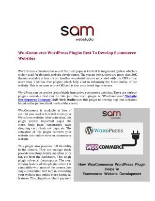 WooCommerce WordPress Plugin: Best To Develop Ecommerce Websites