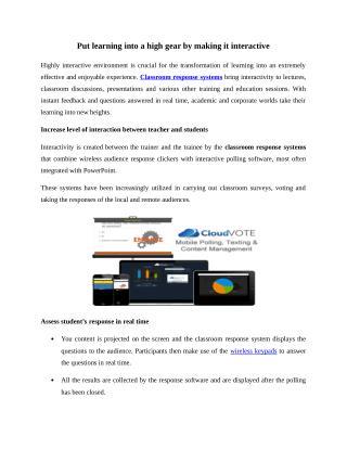 Classroom Response Systems