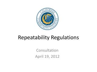 Repeatability Regulations