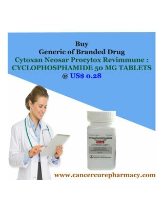 Buy Cyclophosphamide 50 Mg Tablets @ Us$ 0.28