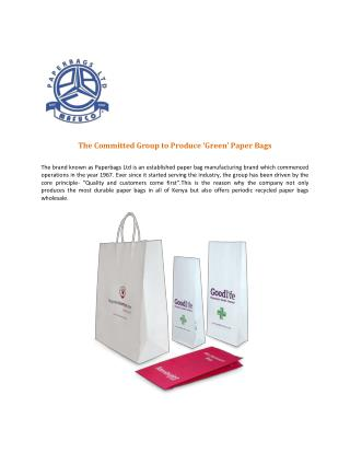 Recycling Bags Company in Kenya