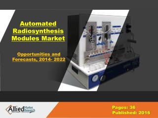 Automated Radiosynthesis Modules Market Size & Share, Forecast- 2022