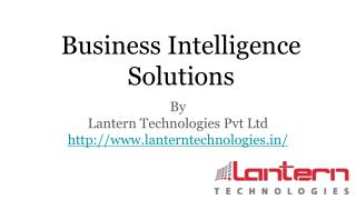 Business Intelligence Solution Providers India | Lantern Technologies