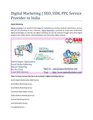 Digital Marketing | SEO, SSM, PPC Service Provider in India