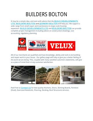BUILDERS BOLTON
