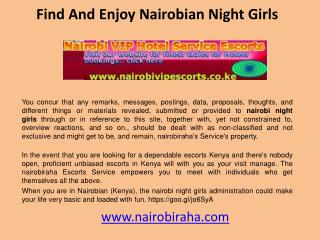 Find And Enjoy Nairobian Night Girls