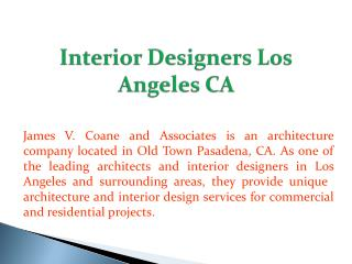 Interior Designers Los Angeles CA