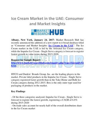 Ice Cream Market in the UAE: Consumer and Market Insights